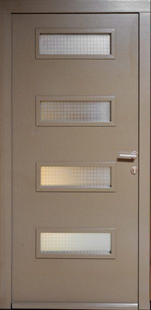 Drvena ulazna vrata RAL 68 staklo